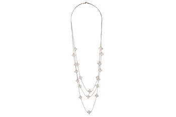 Beaded silver necklace from Forever21.com, $5.80