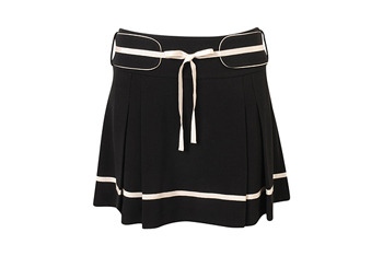 Contrast trim pleated skirt from Forever21.com, $6.99