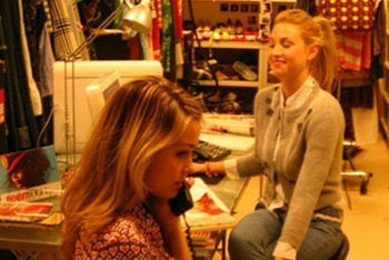 Lauren Conrad and Whitney Port intern at Teen Vogue