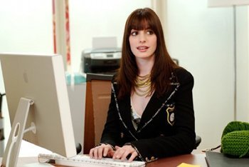 Anne Hathway as an intern in The Devil Wears Prada