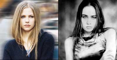 Left: Avril Lavigne         Right: Fiona Apple