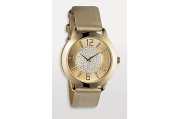 Pale gold glitter watch from Next.co.uk, $25
