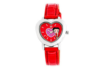 Betty Boop heart leather strap red watch from WalMart.com, $20