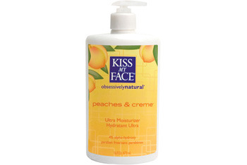 Kiss my Face Peaches and Creme Body Lotion from Whole Foods or KissMyFace.com, $12