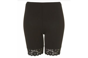Lace trim cycling shorts from Topshop.com, $20