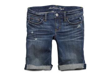 Skinny denim bermuda shorts from American Eagle, $29.50