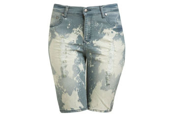 Bleached out shorts from WetSeal.com, $27.50