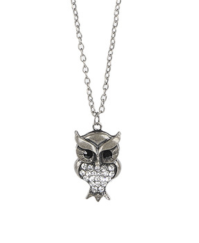 Charming owl necklace from Forever21.com, $6.80