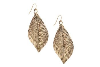 Textured leaf earrings from Forever21.com, $3.80