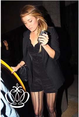 Lauren Conrad goes dressy in a black romper
