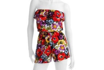 Ruffled strapless romper from WalMart.com, $12