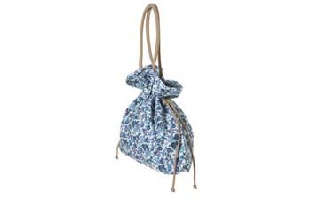 Cotton floral drawstring tote bag from Topshop.com, $44