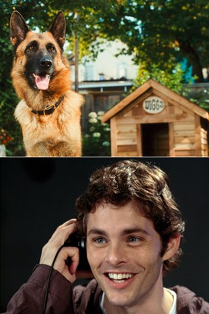 James Marsden as Diggs the German Shepherd