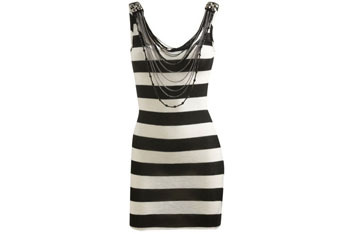Stripe fringe necklace dress from WetSeal.com, $24.50