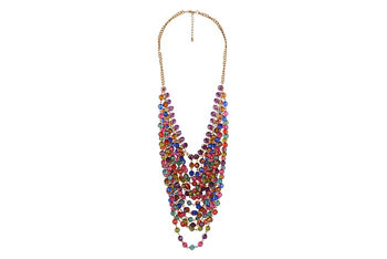 Prismatic Crystalline Bib necklace from Forever21.com, $10.80