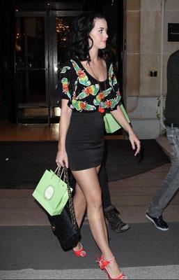 In her favourite black mini skirt
