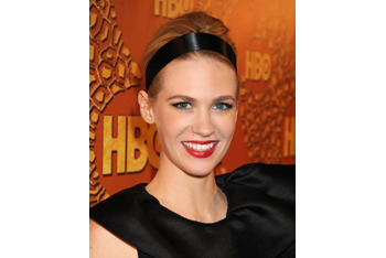 January Jones rocking the black headband and bun