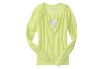 Pointelle-trim cardigan in yellow from OldNavy.com, $20