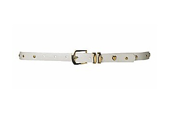 Skinny heart stud belt in white from NewLook.com, $4