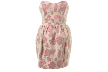 Pink jacquard prom dress from MissSelfridge.com, $70