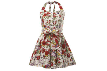 Red floral dress from MissSelfridge.com, $60