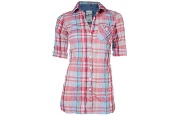 Pink plaid shirt from GarageClothing.com, $10