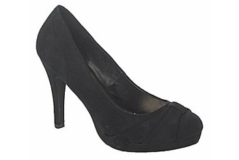 Suedette knot shoes from NewLook.com, $30