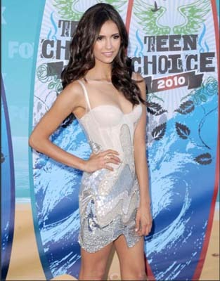 Nina Dobrev goes ethereal white