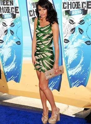 Lea Michele goes bandage green!