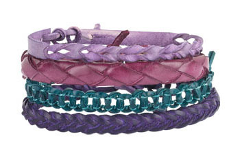 Savina tonal bracelet 4-pack (comes in 12 colors) from Delias.com, $12.50