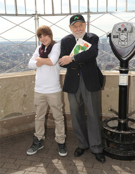 Justin Bieber and author Eric Carle