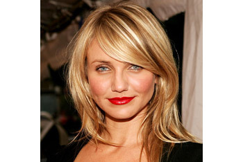 Cameron Diaz's long sideswept bangs