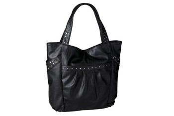 Xhileration stud tote in black from Target.com, $22.99