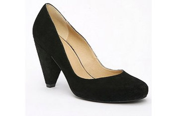 Black suede heels from UrbanOutfitters.com, $48