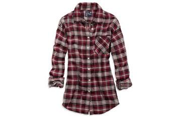 Plaid boyfriend shirt from AmericanEagle.com, $39.50