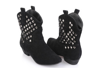 Rocker studded boots from Forever21.com, $27.80