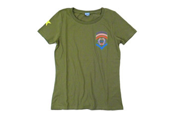 Olive military teeshirt from Kitson.com, $34