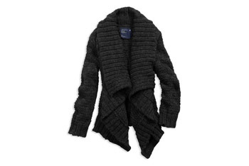 Open chunky knit cardigan from AmericanEagle.com, $59.50