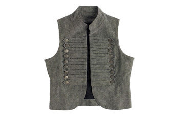 Bobbi military vest from Delias.com, $34.50