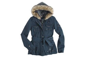 Parker twill jacket from Delias.com, $99