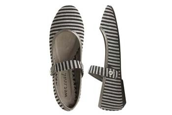 Striped Mary Jane flat from WetSeal.com, $12.50