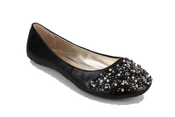Multi-beaded leatherette flat from GoJane.com, $20.70