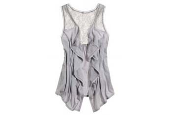 Aerie lace open vest from AmericanEagle.com, $24.50