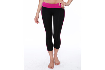 Cropped colorblock workout pants from Forever21.com, $17.80