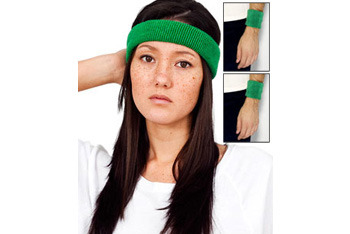 Flex terry headband and wristband from AmericanApparel.net.com (3 pack), $11