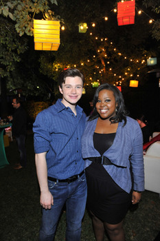Chris Colfer and mber Riley