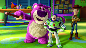 Lots-o'-Huggin' Bear, Buzz, and Woddy