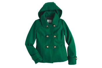 Ella coat in green from Delias.com, $89.50