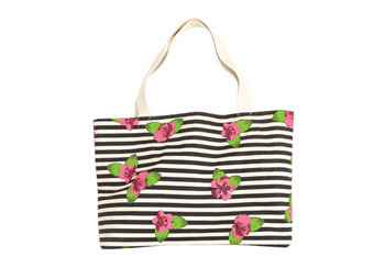 Jackie striped floral tote from Delias.com, $19.50