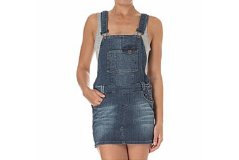 Dungaree denim dress from NewLook.com, $30
